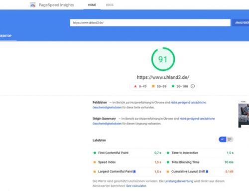 Schnellere Seitenladezeit durch Webseiten-Optimierung